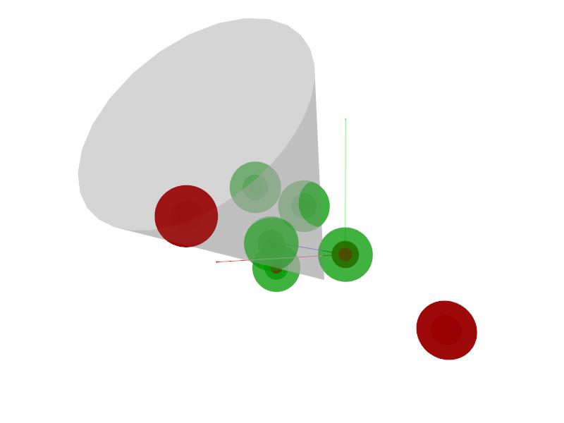 Sphere-cone intersection visualization.
