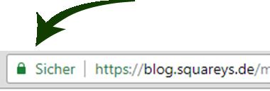 Browser marking blog.squareys.de as safe.
