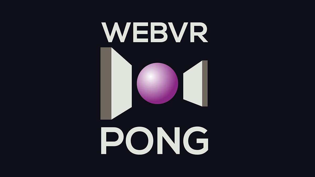 WebVR Pong logo.